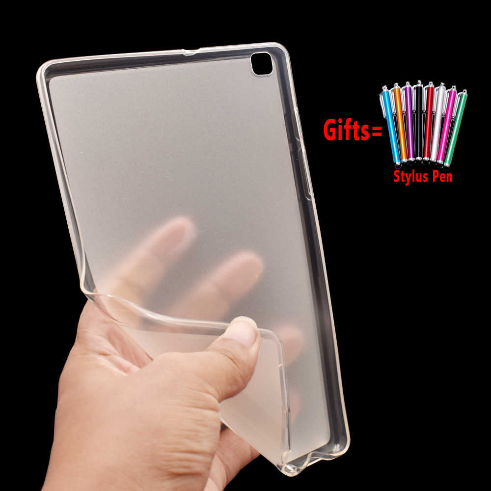 Untuk Samsung Galaxy Tab A 8.0 2019 Case Cover T290 T295 SM-T290 SM-T295 Tablet Silikon Soft Case Coque Funda + pena Stylus