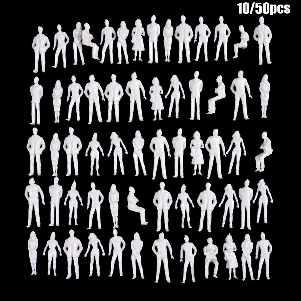 10/50 pçs 150/75/100/150/200 escala modelo branco figuras em miniatura modelos arquitetônicos escala humana modelo abs plástico povos