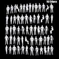 10/50Pcs 1:50/75/100/150/200 Skala Modell Weiß Miniatur Figuren Architektur Modelle Menschlichen Maßstab modell ABS Kunststoff Völker