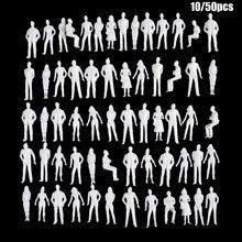 10/50Pcs 1:50/75/100/150/200 skala modelu białe miniaturowe postacie modele architektoniczne Model ludzkiej skali ABS plastikowe ludy