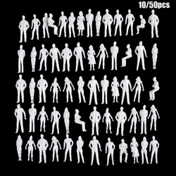 10/50Pcs 1:50/75/100/150/200 Scale Model White Miniature Figures Architectural Models Human Scale Model ABS Plastic Peoples