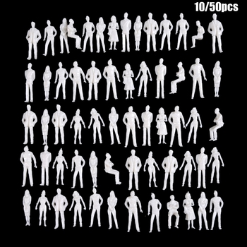 10/50Pcs 1:50/75/100/150/200 Scale Model White Miniature Figures Architectural Models Human Scale Model ABS Plastic Peoples dragon model 1 35 scale military models 6633 sturmgeschutz iii ausf g late type zimmerit coating plastic model kit