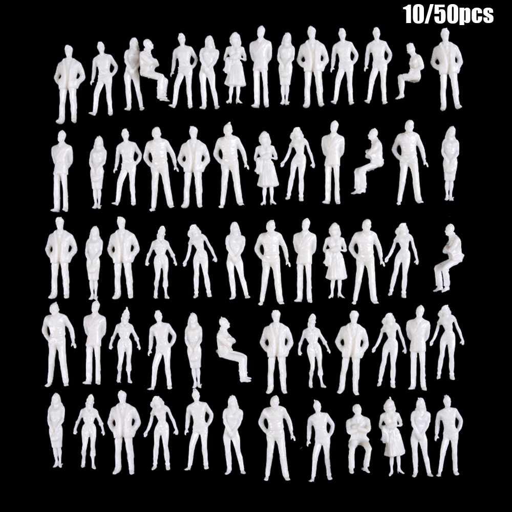 10/50Pcs 1:50/75/100 150/200 스케일 모델 흰색 미니어처 피규어 건축 모델 인간의 스케일 모델 ABS 플라스틱 민족