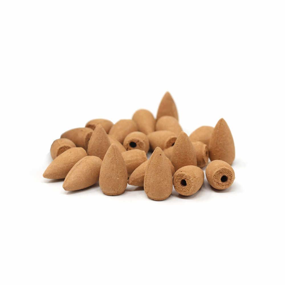 20/10 Uds puro Retro hecho a mano porcelana flujo de retorno de cerámica soporte quemador de incienso decoración budista hogar aromaterapia