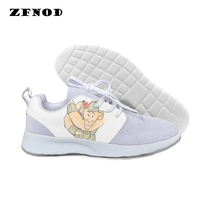 New Arrival Spring Women Cartoon Printed Elegant Pleated Shoes Harajuku 2019 New Shoes Women Size Much Shoes