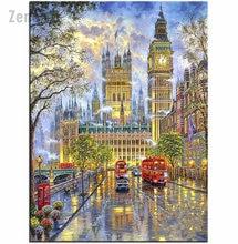 Аниме Лондон вид Сделай Сам 5d алмазная живопись Набор для вышивания