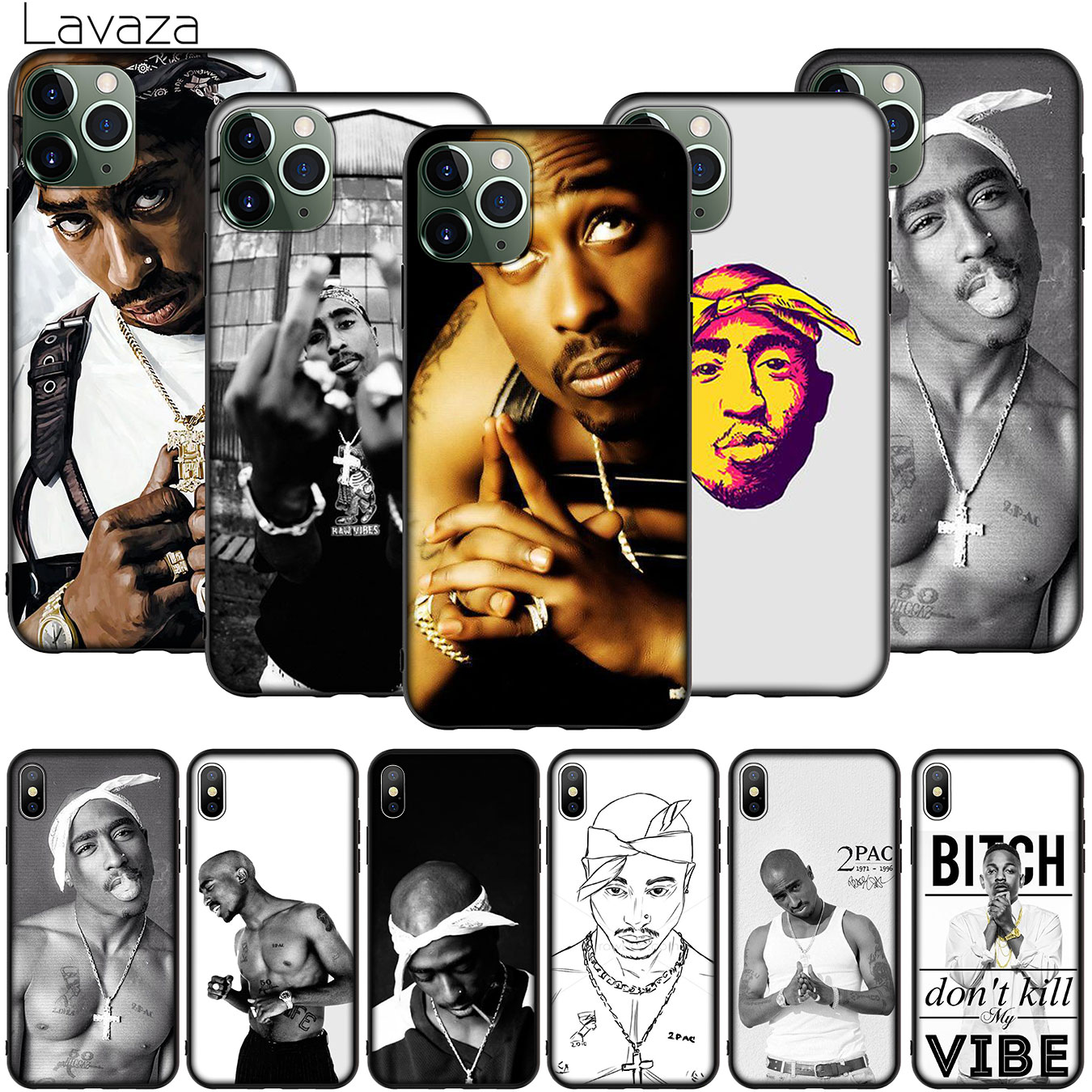 2Pac Tupac Pop pouzdro pro iPhone XR X XS 11 Pro Max 10 7 8 6 6S 5 5S SE Kryt