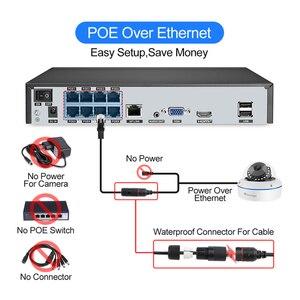 Image 2 - Комплект видеорегистратора Techage H.265, 8 каналов, 1080P, POE, 2 МП
