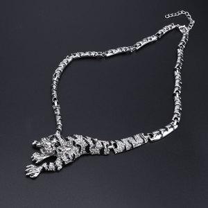 Image 3 - Ensemble de bijoux panthère léopard, Animal, en émail, cristal, strass, collier, boucles doreilles, Bracelet, ensemble de bijoux de fête pour femmes