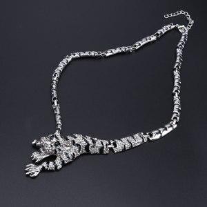 Image 3 - Luipaard Panter Dier Sieraden Set Emaille Crystal Rhinestone Ketting Oorbellen Armband Ring Set Voor Vrouwen Partij Sieraden