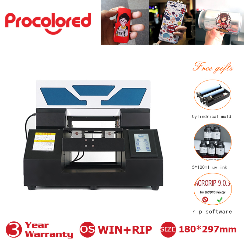 A4 Full automatic A4 UV Printer with Touch screen White ink circulation system for bottle pen phone case t shirt Acrylic Wood 1