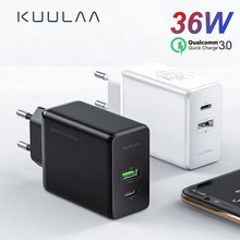 KUULAA szybkie ładowanie 3.0 36W PD ładowarka USB do Xiao mi mi 9 8 Supercharge szybka ładowarka do telefonu huawei P30 iPhone X XR XS Max(China)