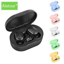 Alatour fones de ouvido sem fio bluetooth 5.0 display led esporte fones caixa carregamento à prova dwaterproof água