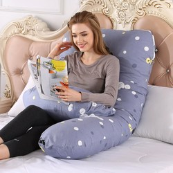 Подушка для беременных с боковым рукавом для беременных женщин постельные принадлежности для всего тела u-образная Подушка с принтом для сн...