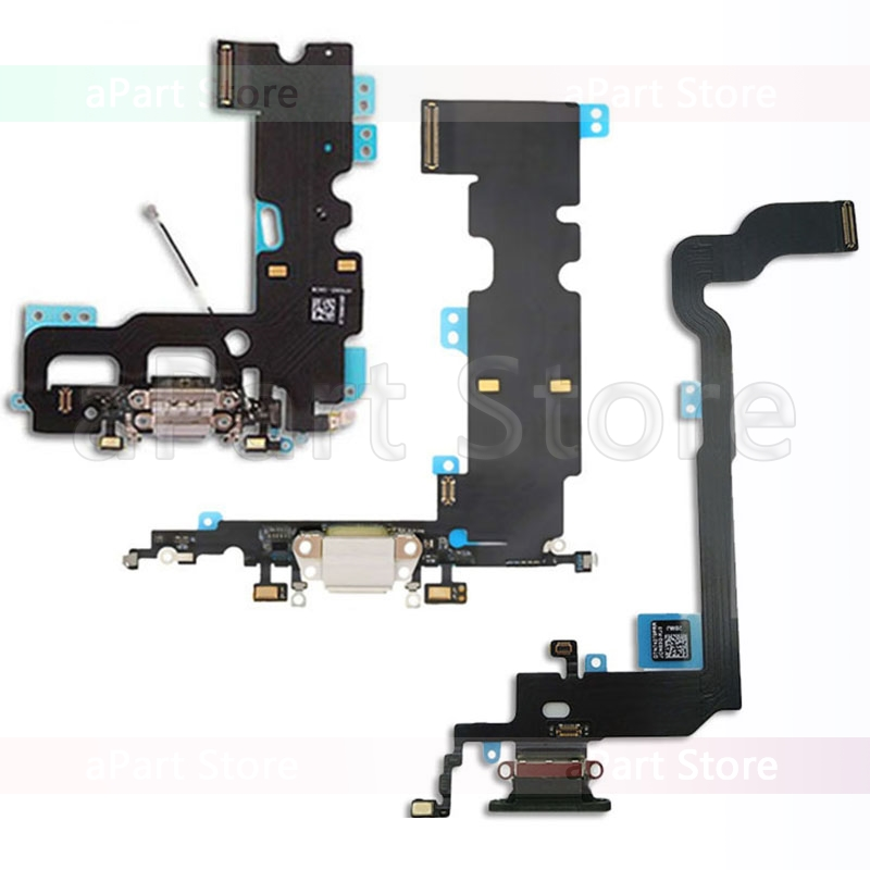 Bottom Dock Charging Flex For IPhone Xs Max X XR 7 8 Plus USB Charger Board Port Dock Connector Mic Flex Cable Replacement