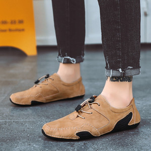Image 5 - Spring mens fashion octopus sole non slip casual shoes personality soft leather driving shoes Doudou shoes driving shoes