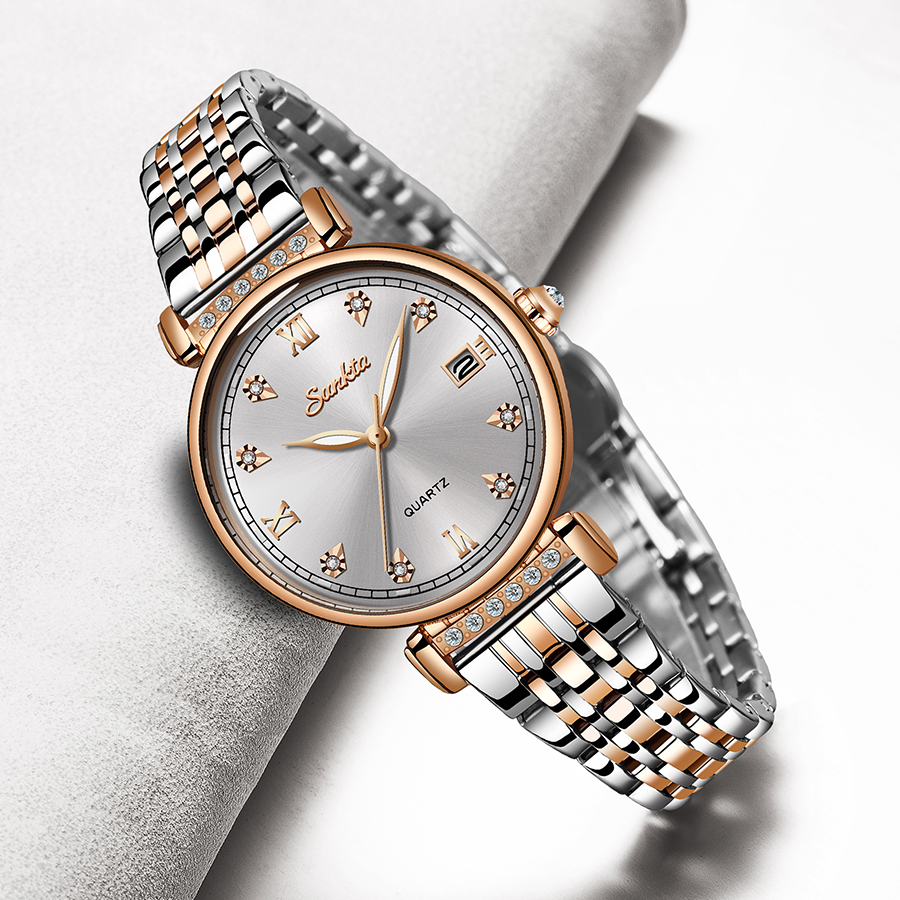 LIGE Brand SUNKTA New Women Watches Business Quartz Watch Ladies Top Brand Luxury Female WristWatches Girl Clock Relogio Feminin