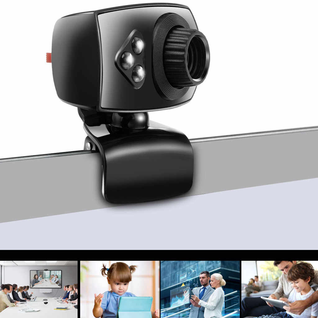 # H35 Volle HD Webcam USB 3 LED Video Kamera mit Mikrofon für PC Laptop Clip-auf