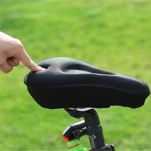 Tampon de gel de silicona csaddle ciclista v lo 3d couvet matelas ciclismo 3D almohadilla MTB bicicleta asiento cojín