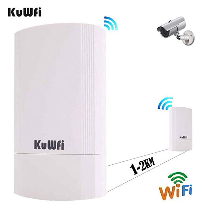 Image 3 - 2PCS 300Mbps Wireless CPE Outdoor 2KM P2P Wireless Bridge Router Wifi Repeater Supports WDS Function No Setting with LED Display-in Wireless Routers from Computer & Office
