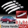 Набор хромированных накладок на ручки для VW Passat B3 B4  Набор накладок из 4 предметов для Volkswagen MK3 MK4  автомобильные аксессуары  наклейки для стай...