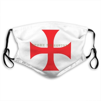 Cafepress Knights Templar White , ,Comfortable And Soft Classic White With Unique Design Summer Print Diy Masks image