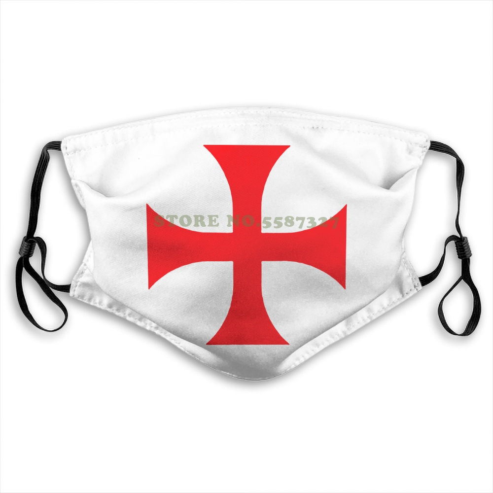 Face Mask Cafepress Knights Templar White , ,Comfortable And Soft Classic White With Unique Design Summer Print Diy Masks