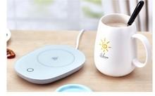 Купить с кэшбэком Warm cup thermostat milk coffee tea warmer heat 55D  Hot cup mat easy clean micro gravity control mini heater