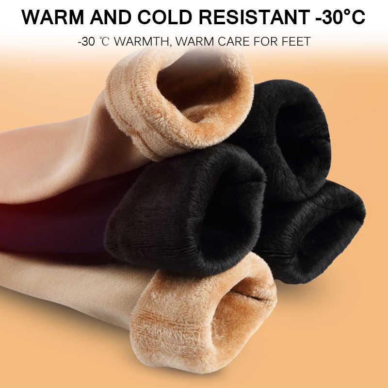 Panas Musim Dingin Wamer Wanita Salju Menebal Kaus Termal Wol Kasmir Salju Kaus Kaki Mulus Beludru Sepatu Lantai Tidur Kaus Kaki untuk Wanita