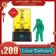 ANYCUBIC-impresora 3D Photon Mono, impresoras de resina UV con pantalla LCD monocromática 2K de 6 pulgadas y velocidad de impresión rápida 130x80x165mm