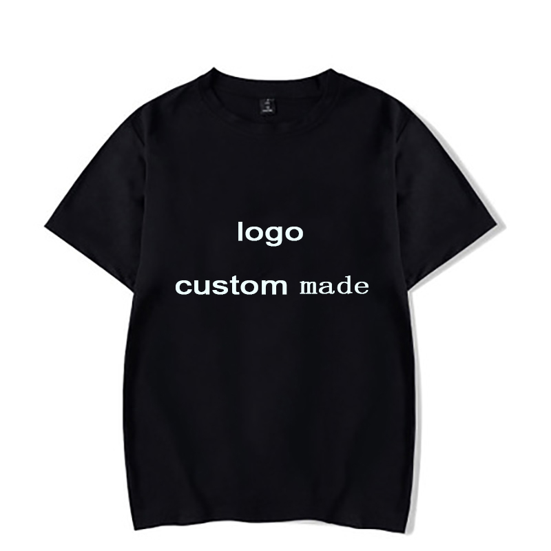 WGTD Cutom Your Image 2D Printed Boys Girls T Shirt Baby Summer T-shirts FOR Customers Products White Black
