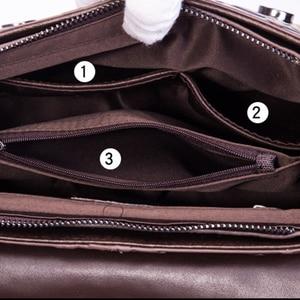 Image 5 - Bolsa feminina de couro legítimo, nova bolsa feminina modelo carteiro feita em couro legítimo com alça carteiro e alça de mão