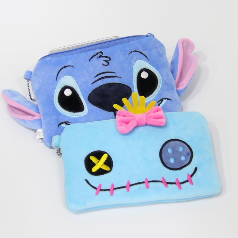 1Pc New Cartton Lilo And Stitch Scrump Plush Coin Bag Purse Lovely Storage Bag Soft Stuffed Animals Plush Toys For Girl Gift