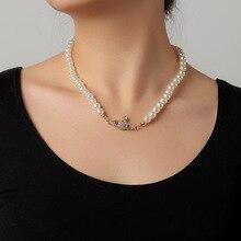 Женское Ожерелье-чокер с жемчугом, ожерелье в готическом стиле с бусинами, украшение для шеи, 2021