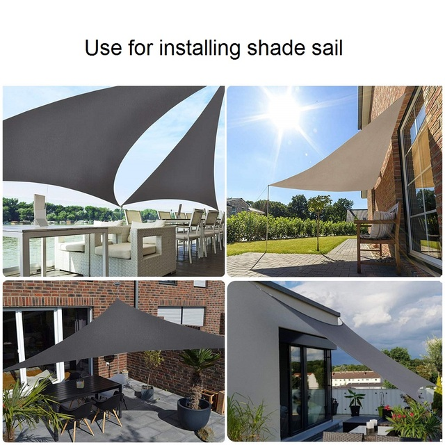 Sun Shade Sail Hardware Kit M5/5mm Stainless Steel 304 Super Heavy Duty for Rectangle Square Sun Shade Sail Installation