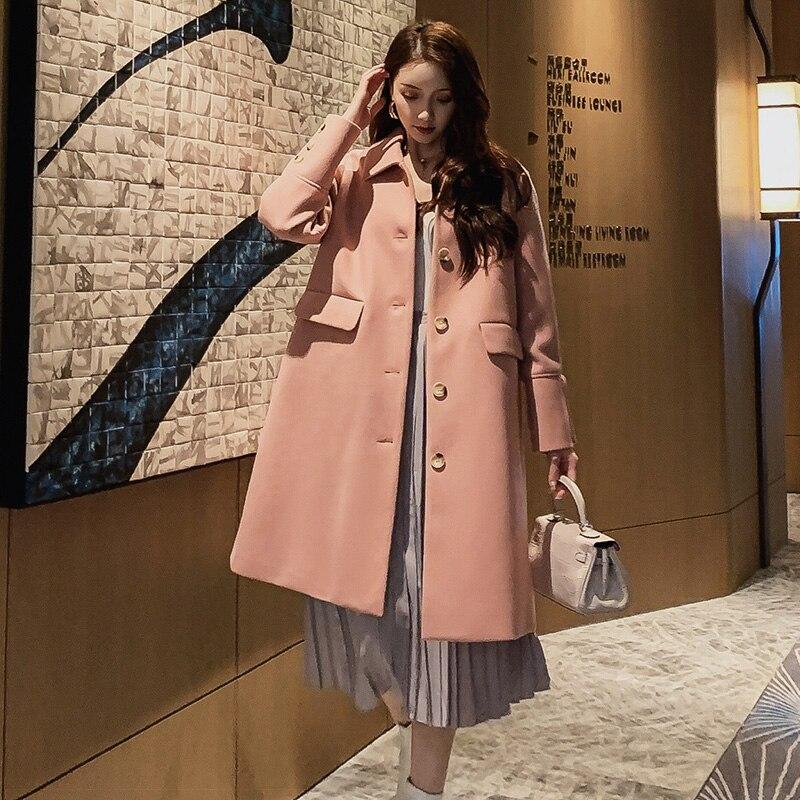 FN933RX 2019 New Autumn Winter Women Fashion Casual Warm Jacket Female Bisic Coats Lady Overcoat Woman Parka Woolen Coat