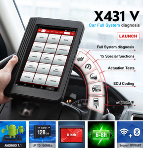 Image 4 - Launch X431 V Full System Car Diagnostic Tool x 431 v with 16 reset service pro mini obd2 code scanner 2 year online free update
