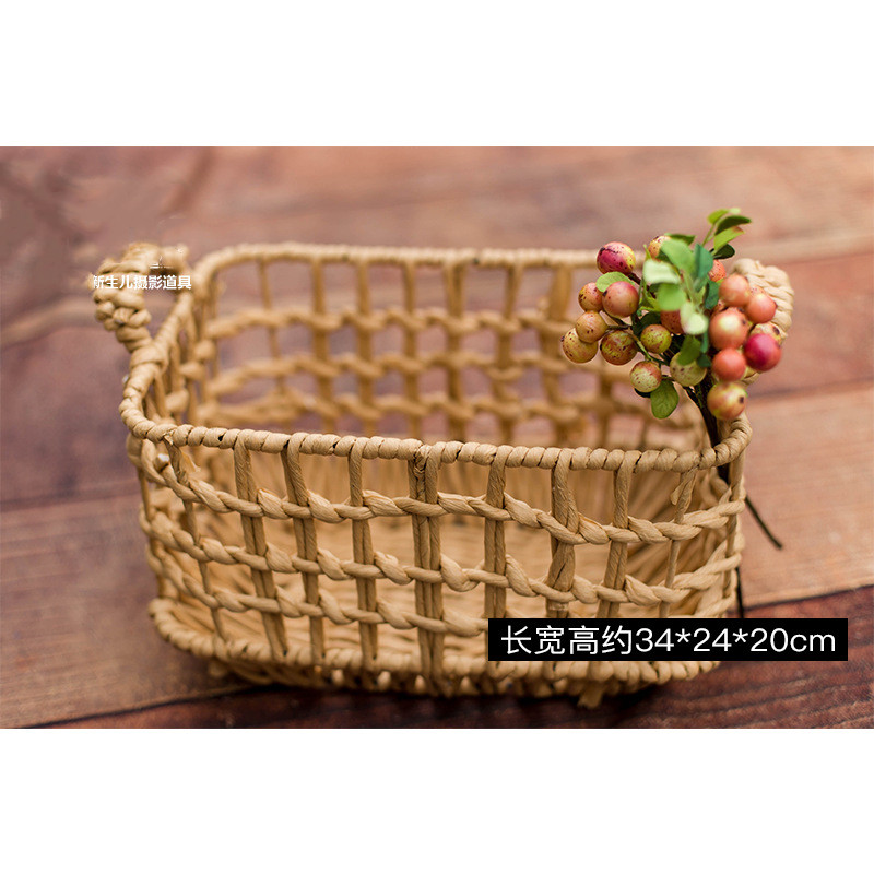 Newborn photography props woven basket photo studio photo auxiliary props baby photo basin frame shooting platform