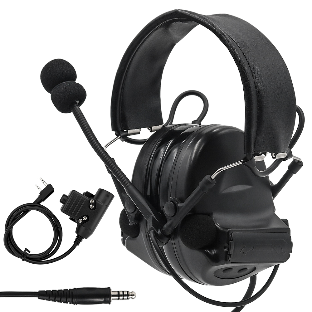 Comtac II Tactical Headset Military Airsoft Headphones Noise Reduction Pickup Headphone With U94 PTT 2 Pin For Outdoor Sports
