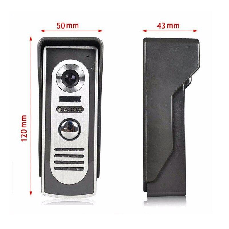 —Top SaleVideo Doorbell Monitor Phone-Intercom Wired-System Alloy-Camera Night-Vision 7 7-Aluminiumð