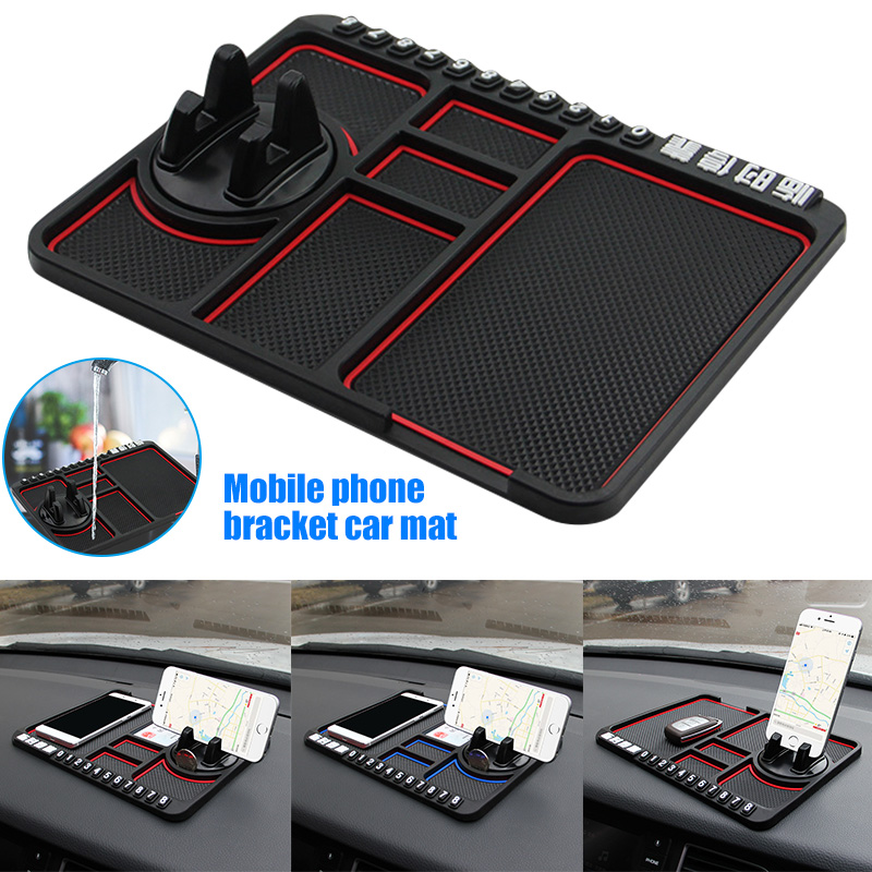 Car Dashboard Anti Slip Mat Pad GPS Mobile Phone Holder Stand Number Plate Accessories GDeals