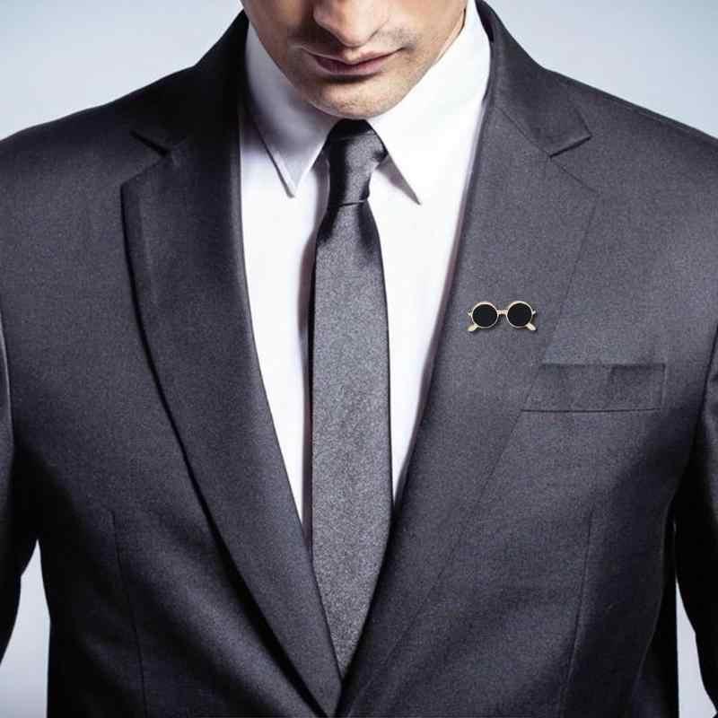 Fashion Pria Enamel Bros Unisex Fashion Populer Pesta Perapi Kemeja Dekorasi Paduan Pin Kartun DROP Minyak Emas dan Perak Kacamata