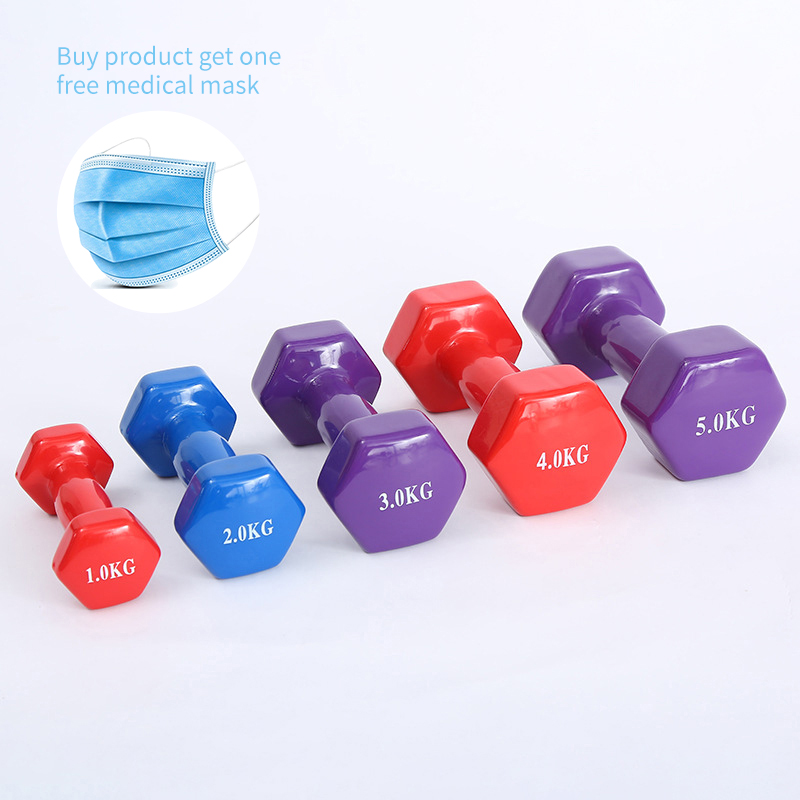 1pcs  New Dumbbells For Fitness Barbell Gym Weight Loss Exercise Equipment Women Comprehensive Training Dumbbell Aerobics