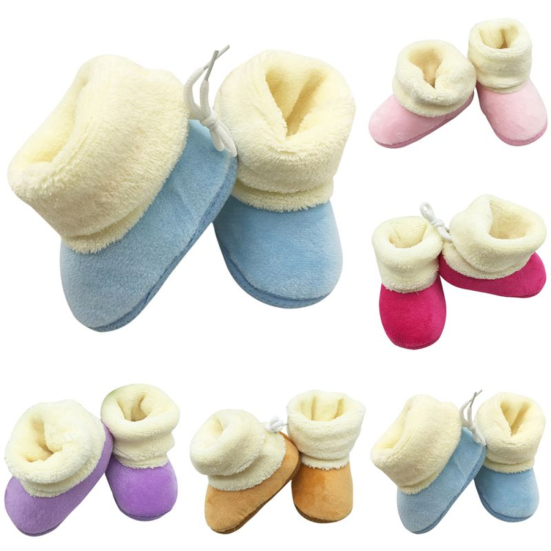 Bobora Baby Girls Shoes Booties Winter Warm Shoes Flexible Anti-slip Infant Boys Bootie Shoes