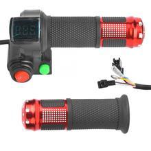 Wskaźnik napięcia roweru elektrycznego 1 para uniwersalny wskaźnik napięcia LED Twist przepustnicy dla 12-99V Ebike skuter trwałe tanie tanio Dioche CN (pochodzenie)