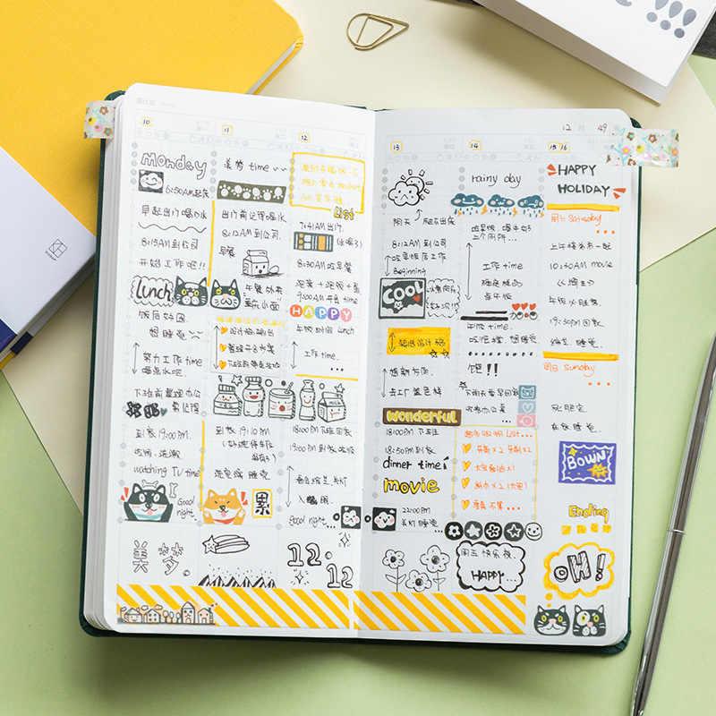 高校生文房具日記毎週プランナーノートブックかわいいポケットアジェンダプランナーオーガナイザー弾丸ジャーナルギフト