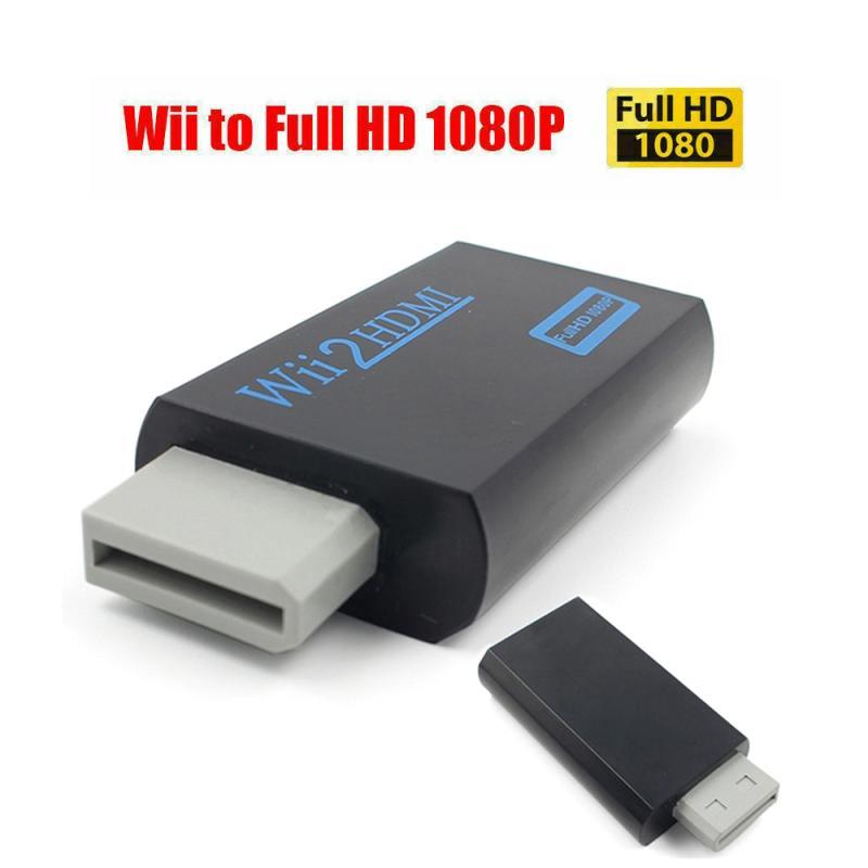 1080P Wii преобразователь адаптер Wii 2 преобразователь Full HD 3,5 мм аудио для ПК ТВ HD ТВ монитор дисплей аудиовыход совместим с HDMI