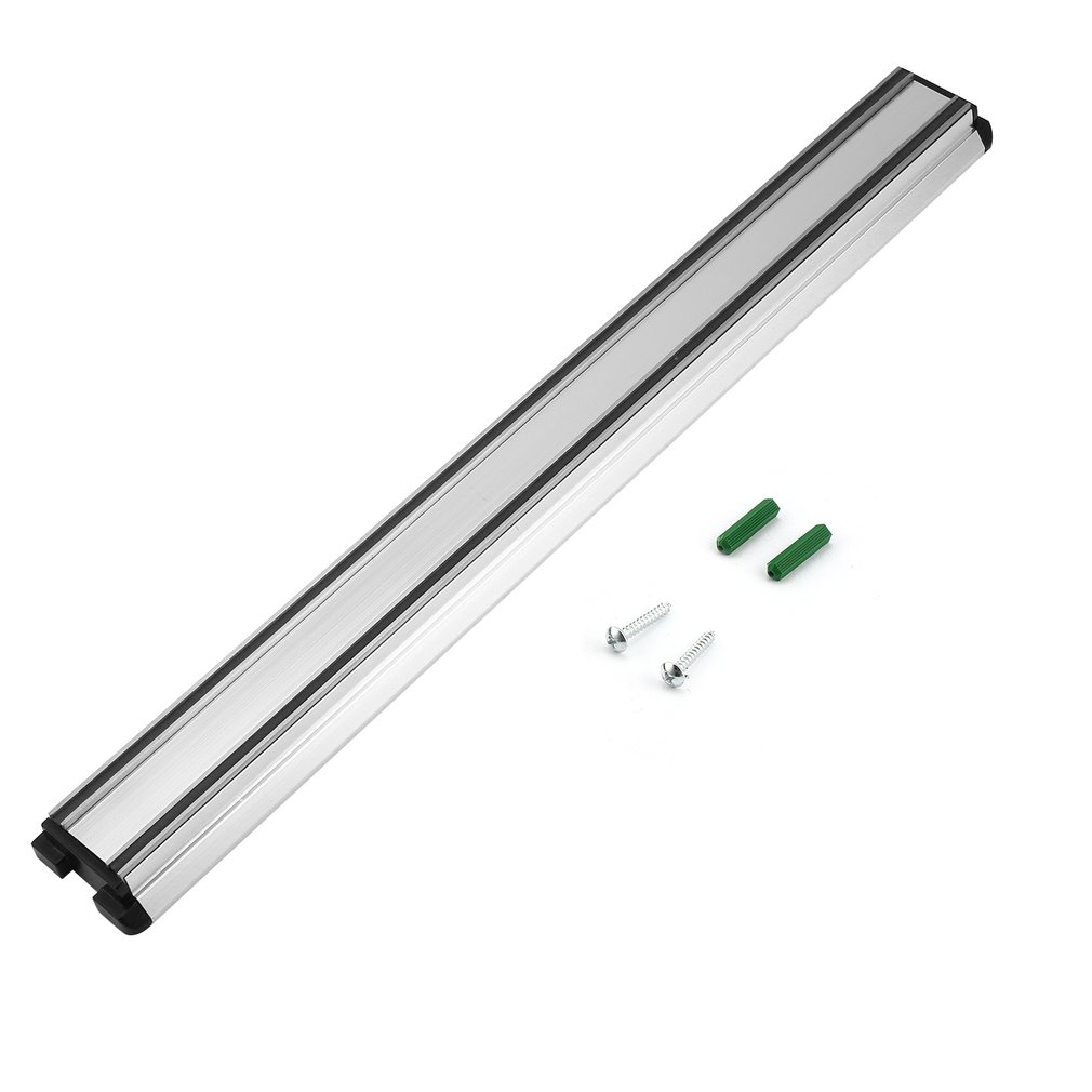 17.7 Inches Length Knifes Holder Wall-mounted Magnetic Self-adhesive Stainless Steel Block Magnet Knife Holder Rack Stand