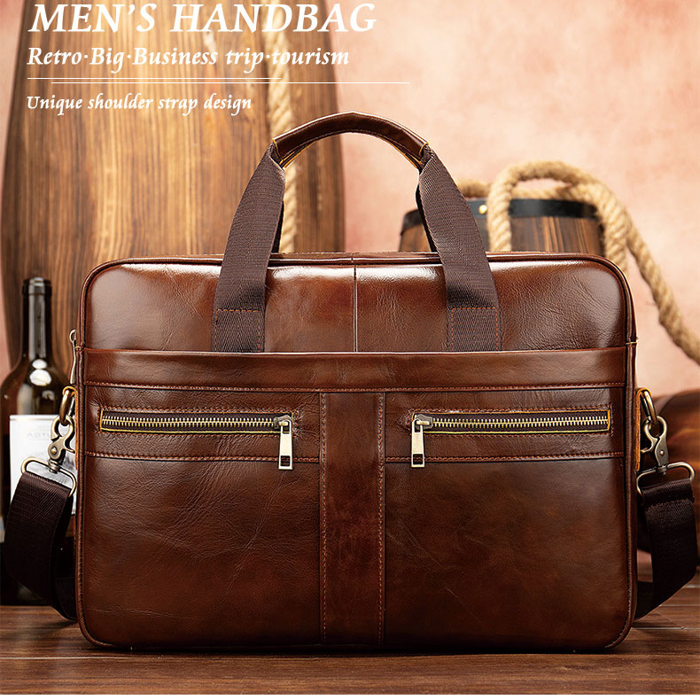 Natural Leather For Men Messenger Bags Men Briefcases Bag Business Men Genuine Leather Briefcase Male Man Laptop Bag
