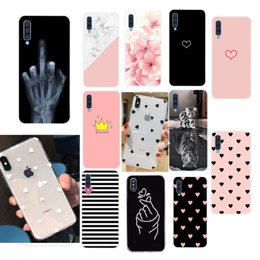 Silicon For Samsung Galaxy A30 A50 Note 9 J8 A7 A8 2018 S9 S10 Plus S10 Lite Cover Case For Samsung A20 A40 A70 A 70 <font><b>50</b></font> <font><b>40</b></font> Case image